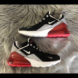 Nike Air Max Women's 270 Red/Black/Grey/White 5